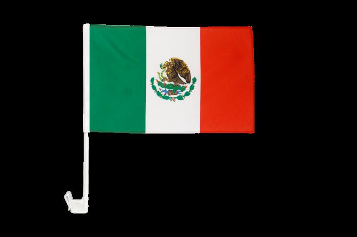 Drapeau de voiture Mexique - 8 x 8 cm