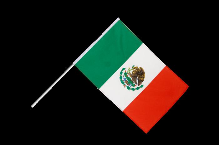 Drapeau Mexique sur hampe - 8 x 8 cm