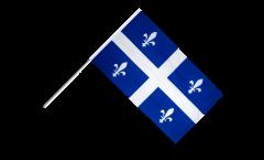Drapeau Canada Quebec sur hampe - 60 x 90 cm