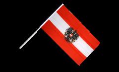 Drapeau Autriche avec aigle sur hampe - 60 x 90 cm