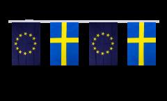 Guirlande d'amitié Suède - Union européenne UE - 15 x 22 cm