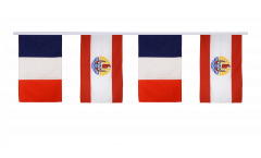 Guirlande d'amitié France - Polynésie - française - 30 x 45 cm