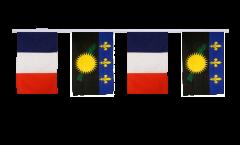 Guirlande d'amitié France - Guadeloupe - 30 x 45 cm