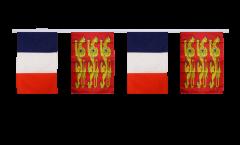 Guirlande d'amitié France - Haute Normandie, treis cats - 30 x 45 cm