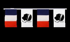 Guirlande d'amitié France - Corse - 30 x 45 cm