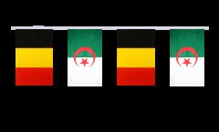 Guirlande d'amitié Belgique - Algerie - 15 x 22 cm