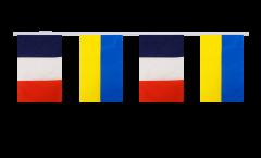 Guirlande d'amitié France - Ukraine - 15 x 22 cm