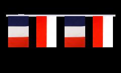 Guirlande d'amitié France - Pologne - 15 x 22 cm