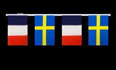 Guirlande d'amitié France - Suède - 15 x 22 cm