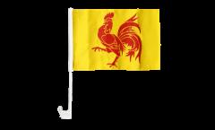 Drapeau de voiture Belgique Wallonie - 30 x 40 cm