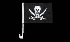 Drapeau de voiture Pirate avec deux épées - 30 x 40 cm