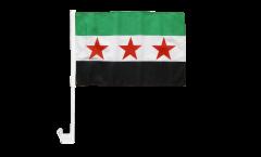 Drapeau de voiture Syrie 1932-1963 / Opposition - Armée Syrienne Libre - 30 x 40 cm