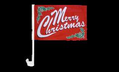 Drapeau de voiture Merry Christmas - 30 x 40 cm