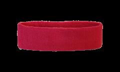 Bandeau de transpiration Unicolore Rouge - 6 x 21 cm
