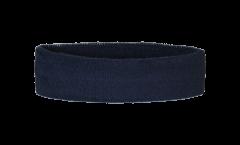 Bandeau de transpiration Unicolore Noir - 6 x 21 cm