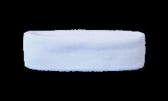 Bandeau de transpiration Unicolore Blanc - 6 x 21 cm