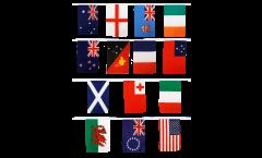 Guirlande Coupe du Monde de Rugby 2013 - 15 x 22 cm