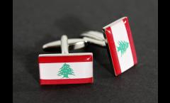 Boutons de Manchette drapeau Liban - 18 x 12 mm