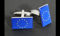 Boutons de Manchette drapeau Union européenne UE - 18 x 12 mm