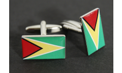 Boutons de Manchette drapeau Guyane - 18 x 12 mm