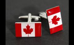 Boutons de Manchette drapeau Canada - 18 x 12 mm