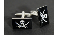 Boutons de Manchette drapeau Pirate - 18 x 12 mm