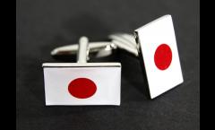 Boutons de Manchette drapeau Japon - 18 x 12 mm
