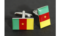 Boutons de Manchette drapeau Cameroun - 18 x 12 mm