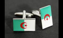 Boutons de Manchette drapeau Algerie - 18 x 12 mm
