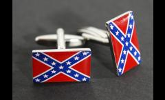 Boutons de Manchette drapeau confédéré USA Sudiste - 18 x 12 mm