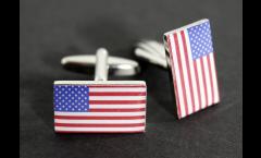 Boutons de Manchette drapeau USA - 18 x 12 mm