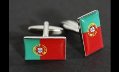Boutons de Manchette drapeau Portugal - 18 x 12 mm