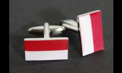 Boutons de Manchette drapeau Monaco - 18 x 12 mm