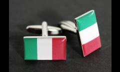 Boutons de Manchette drapeau Italie - 18 x 12 mm