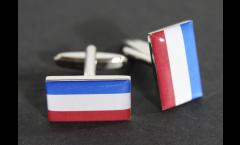 Boutons de Manchette drapeau Pays-Bas - 18 x 12 mm