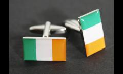 Boutons de Manchette drapeau Irlande - 18 x 12 mm
