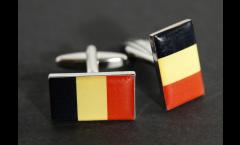 Boutons de Manchette drapeau Belgique - 18 x 12 mm