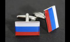 Boutons de Manchette drapeau Russie - 18 x 12 mm