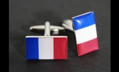 Boutons de Manchette drapeau France - 18 x 12 mm