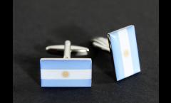 Boutons de Manchette drapeau Argentine - 18 x 12 mm
