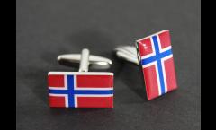 Boutons de Manchette drapeau Norvège - 18 x 12 mm