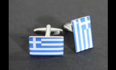 Boutons de Manchette drapeau Grèce - 18 x 12 mm