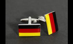 Boutons de Manchette drapeau Allemagne - 18 x 12 mm