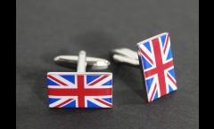 Boutons de Manchette drapeau Royaume-Uni - 18 x 12 mm