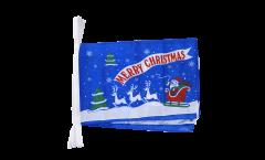 Guirlande Merry Christmas Père Noël bleu - 30 x 45 cm