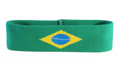 Bandeau de transpiration Brésil - 6 x 21 cm