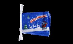 Guirlande Merry Christmas Père Noël bleu - 15 x 22 cm