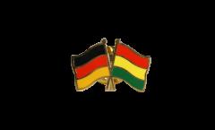 Pin's épinglette de l'amitié Allemagne - Bolivie - 22 mm