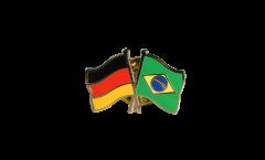 Pin's épinglette de l'amitié Allemagne - Brésil - 22 mm