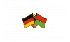 Pin's épinglette de l'amitié Allemagne - Burkina Faso - 22 mm